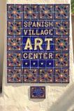 Centro spagnolo di arte del villaggio nella sosta della balboa fotografie stock
