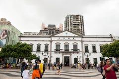 Centro storico del quadrato di Macao-Senado Fotografia Stock Libera da Diritti