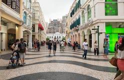 Centro storico del quadrato di Macao-Senado Immagini Stock Libere da Diritti