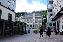 Centro storico della città dello svizzero di St Moritz Fotografia Stock