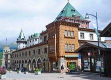 Centro storico della città dello svizzero di St Moritz Fotografia Stock Libera da Diritti