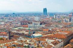 Centro storico della città di Torino, Piemonte, Italia immagine stock