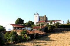 Centro storico della città portoghese di Braganca Fotografia Stock Libera da Diritti