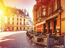 Centro storico della Polonia - di Wroclaw Fotografia Stock