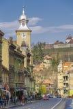 Centro storico di Brasov, Romania fotografia stock