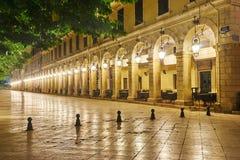 Centro storico di Corfù fotografia stock libera da diritti
