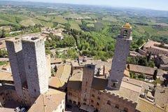 Centro storico di San Gimignano, Toscana, Italia immagini stock