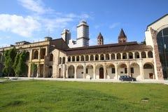 Centro storico di Vercelli fotografia stock libera da diritti