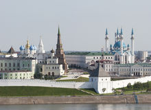 Centro storico a Kazan Fotografie Stock Libere da Diritti