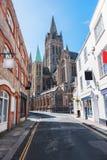 Centro storico in Truro, Cornovaglia, Regno Unito fotografia stock libera da diritti