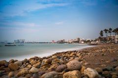 Centro-Strand gleich nach Sonnenuntergang lizenzfreie stockfotografie