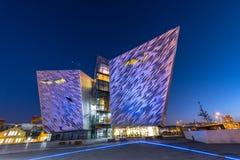 Centro titánico del visitante en el cuarto titánico, Belfast Imágenes de archivo libres de regalías