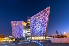 Centro titánico del visitante en el cuarto titánico, Belfast Fotografía de archivo libre de regalías