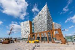 Centro titánico del visitante en el cuarto titánico, Belfast Fotografía de archivo