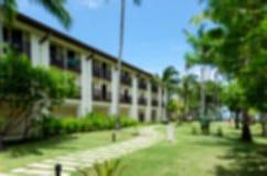 Centro turístico abstracto del hotel de la falta de definición Fotografía de archivo libre de regalías