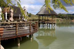 Centro turístico africano del safari Imagen de archivo