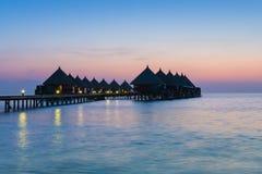 Centro turístico de Angaga Ari Atoll imagen de archivo libre de regalías