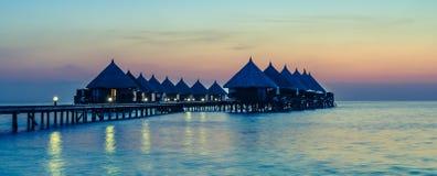 Centro turístico de Angaga Ari Atoll foto de archivo libre de regalías