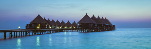 Centro turístico de Angaga Ari Atoll imágenes de archivo libres de regalías
