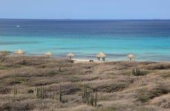 Centro turístico de Aruba en el mar del Caribe Imagenes de archivo