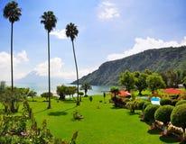 Centro turístico de Atitlan del lago, Guatemala Fotografía de archivo