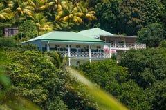 Centro turístico de Beau Rive en Dominica antes del daño de Maria del huracán imágenes de archivo libres de regalías