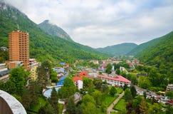 Centro turístico de Herculane, Rumania Imagen de archivo