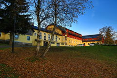 Centro turístico de la alfa del hotel, montañas de Orlické, República Checa Fotos de archivo libres de regalías