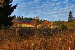 Centro turístico de la alfa del hotel, montañas de Orlické, República Checa Fotografía de archivo libre de regalías