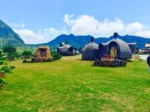 Centro turístico de la montaña de Campuestohan Imágenes de archivo libres de regalías