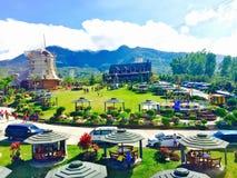 Centro turístico de la montaña de Campuestohan Imagen de archivo libre de regalías