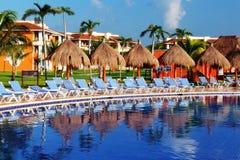 Centro turístico de la piscina Imagen de archivo