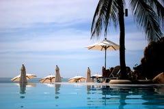 Centro turístico de la piscina de Tailandia Imagen de archivo libre de regalías