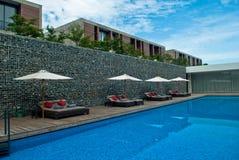 Centro turístico de la piscina del viaje Imagen de archivo