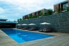 Centro turístico de la piscina del viaje Fotografía de archivo libre de regalías