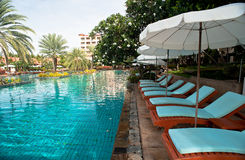 Centro turístico de la piscina del viaje Imagenes de archivo