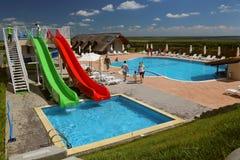 Centro turístico de lujo en el delta de Danubio Foto de archivo libre de regalías