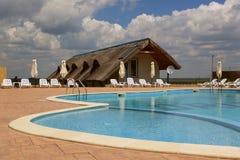 Centro turístico de lujo en el delta de Danubio Fotografía de archivo