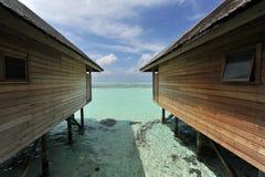 Centro turístico de lujo en Maldives imagenes de archivo