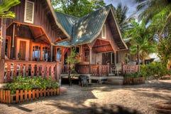 Centro turístico de madera de la casa Fotos de archivo libres de regalías