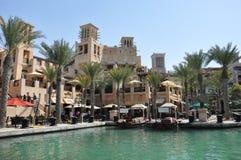 Centro turístico de Madinat Jumeirah en Dubai, UAE Imagen de archivo libre de regalías