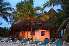 Centro turístico de Mahekal en Playa del Carmen - México Foto de archivo libre de regalías