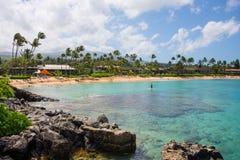 Centro turístico de Maui Hawaii del centro turístico de Lahaina de la bahía de Napili Imágenes de archivo libres de regalías
