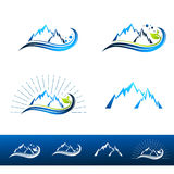 Centro turístico de montaña Logo Set Fotografía de archivo