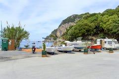 Centro turístico de Paleokastritsa Imagen de archivo