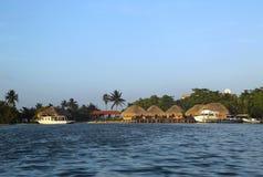 Centro turístico de San George s Caye en Belice foto de archivo libre de regalías