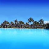 Centro turístico de vacaciones exótico en Isla Mauricio - África Imágenes de archivo libres de regalías