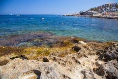 Centro turístico de verano - Buggiba en Malta Imagen de archivo