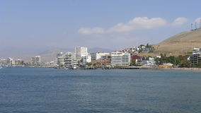 Centro turístico del Ancon en el norte de Lima, Perú Foto de archivo libre de regalías