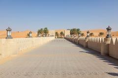 Centro turístico del desierto en el emirato de Abu Dhabi Foto de archivo libre de regalías